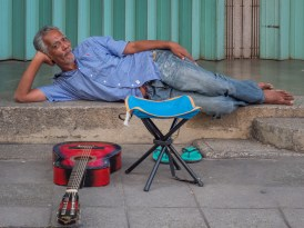 Street Performer On Break