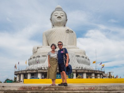 With The Captain At Big Buddha Image Courtesy Cheri Polansky