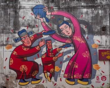 Old Phuket Town Street Art Luidmila Letnikova