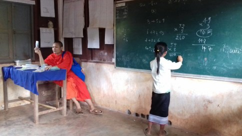 Teaching Maths - Image Courtesy Monk Phout