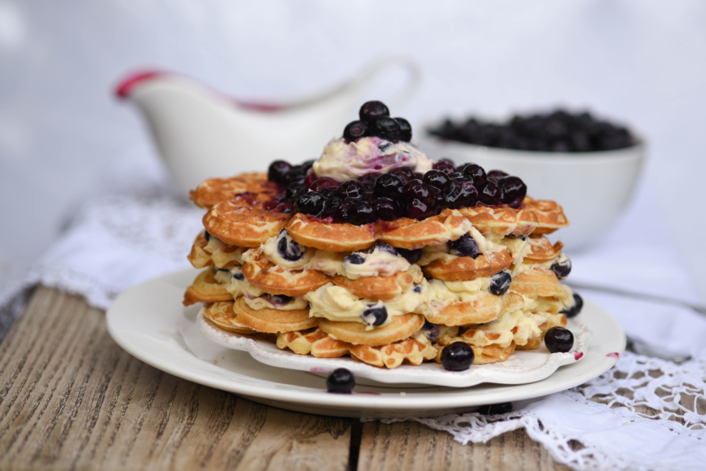 Blueberry Waffle Cheesecake – Baking Nation