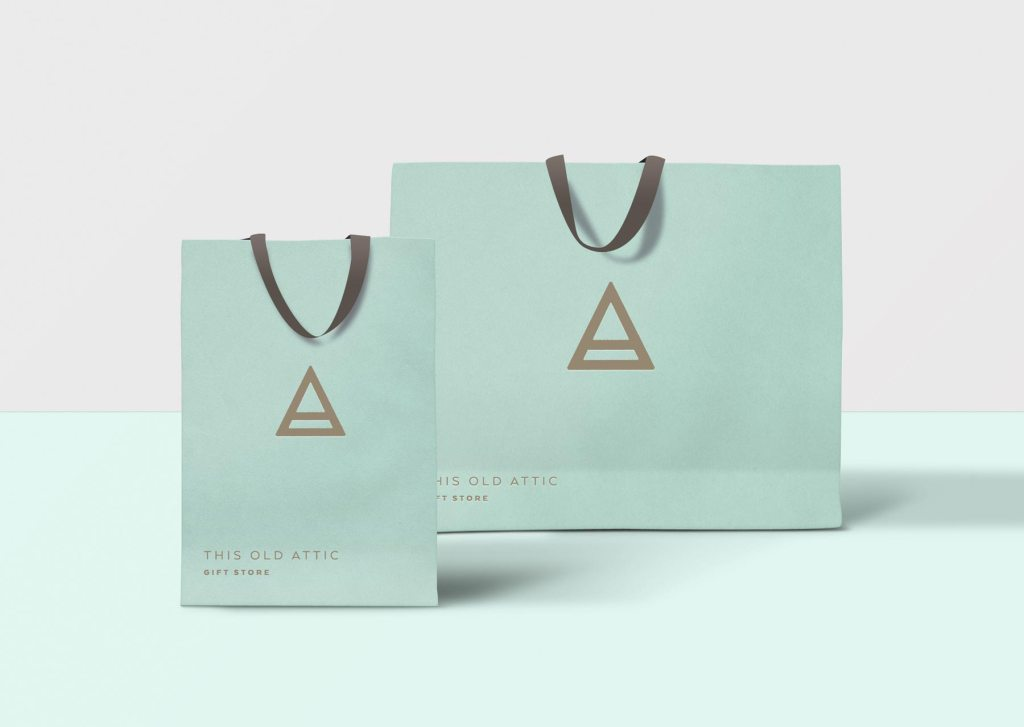 This Old Attic gift bag designs by Lisa Furze