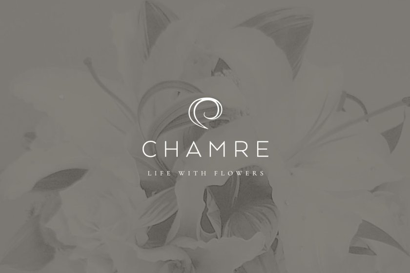 Chamre full logo design, created by Lisa Furze