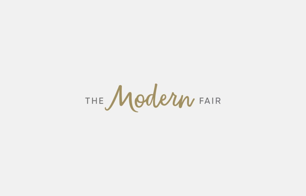 The Modern Fair alternate logo design, created by Lisa Furze