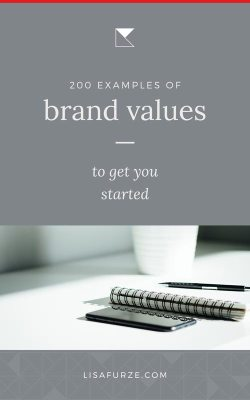 Defining your core brand values can be a little tough at first. This massive list of 200 examples of brand values will get you back on track in no time!