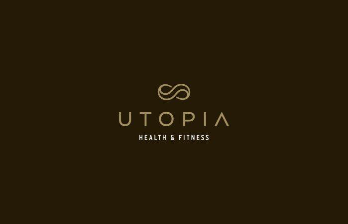 Utopia logo design (reversed colours), branding by Lisa Furze