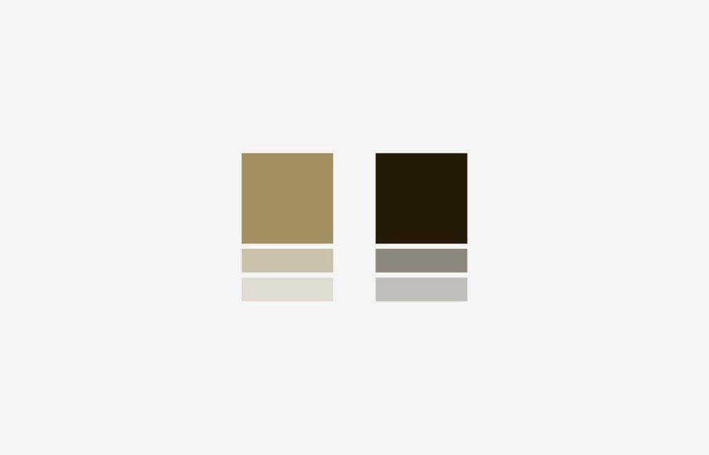 Utopia brand colours — metallic gold and black