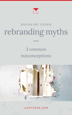 Let's break down some common misconceptions about rebranding your business. Click here to read about what really happens when you rebrand!!
