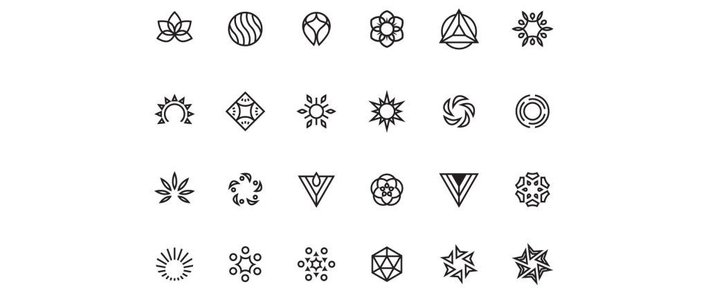 Full set of the icon designs for the Microseasons of Japan poster series, created by Lisa Furze