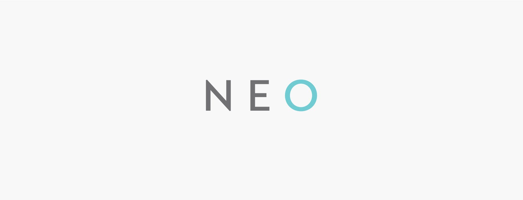 NEO primary logo design, created by Lisa Furze