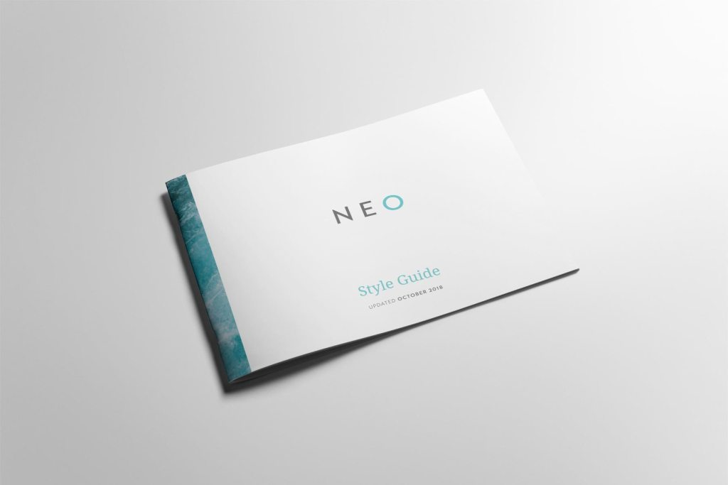 NEO style guide, created by Lisa Furze