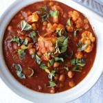 Italian Curried Cauliflower and Chickpea Stew