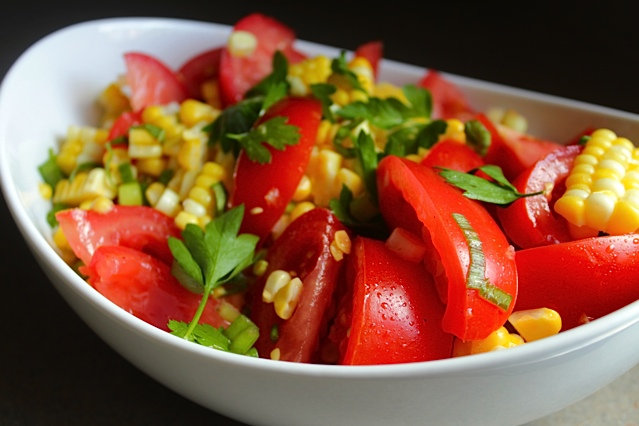 Corn and Tomato Salad with Lime Vinaigrette