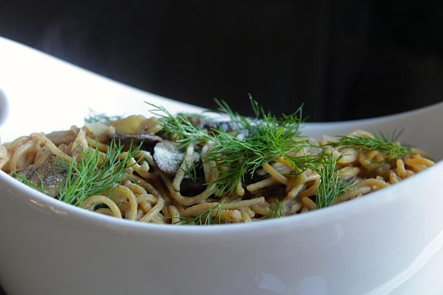 Pasta in a Fresh Dill-White Wine Cream Sauce