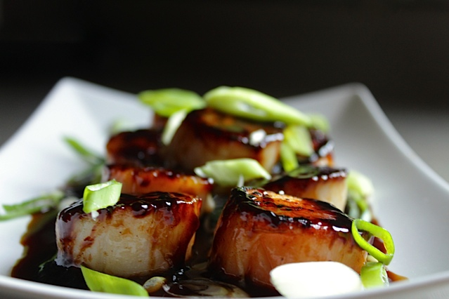 Soy and Sesame Glazed Scallops