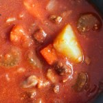 Beef, Potato and Tomato Soup