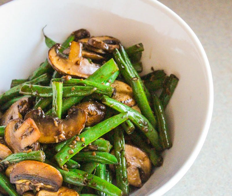 Asian Style Mushrooms and Green Beans