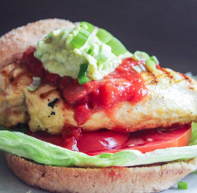 Grilled Mexican Chicken Sandwich