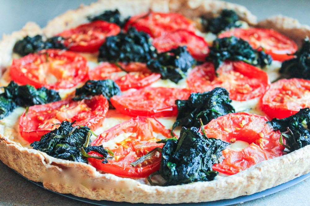 Tomato, Onion and Spinach Tart