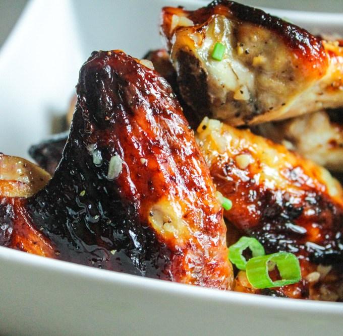 Baked Honey Garlic Chicken Wings