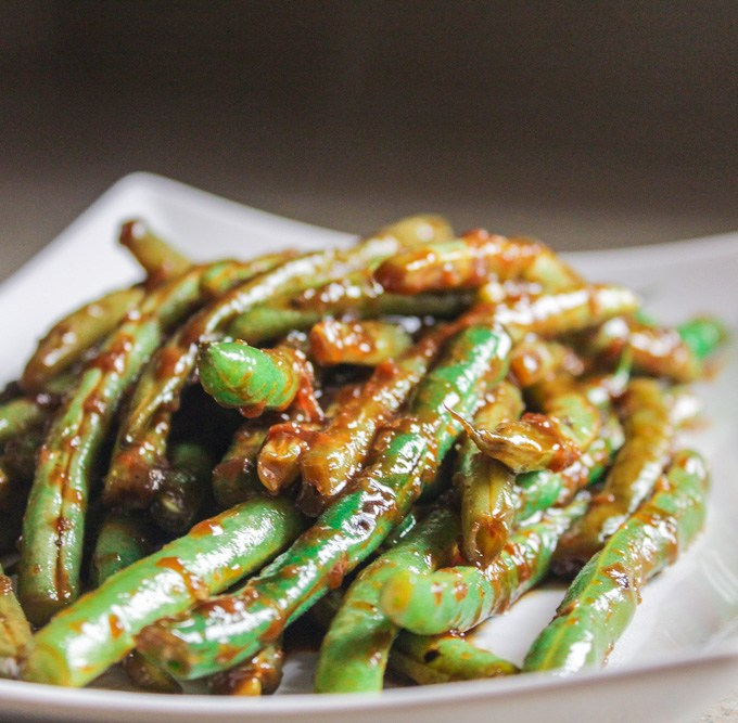 Pantry Green Beans in Black Bean Sauce