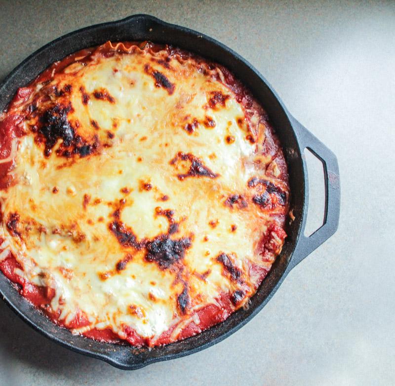 skillet mushroom lasagna