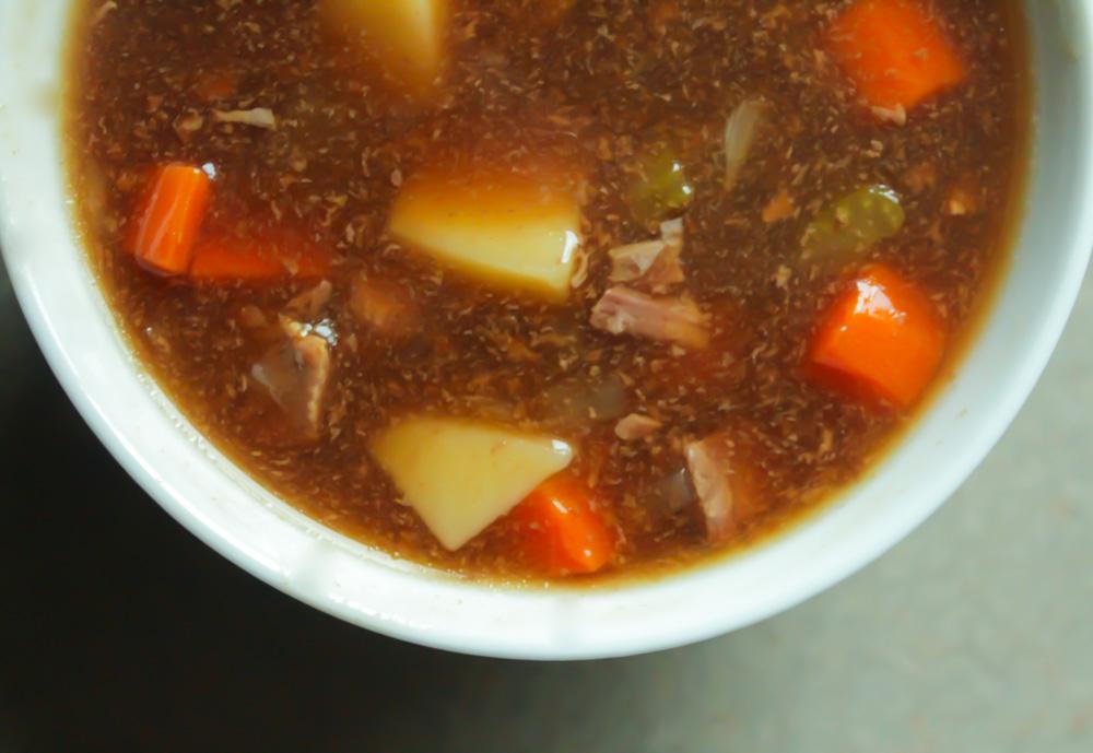 beef soup in rich gravy