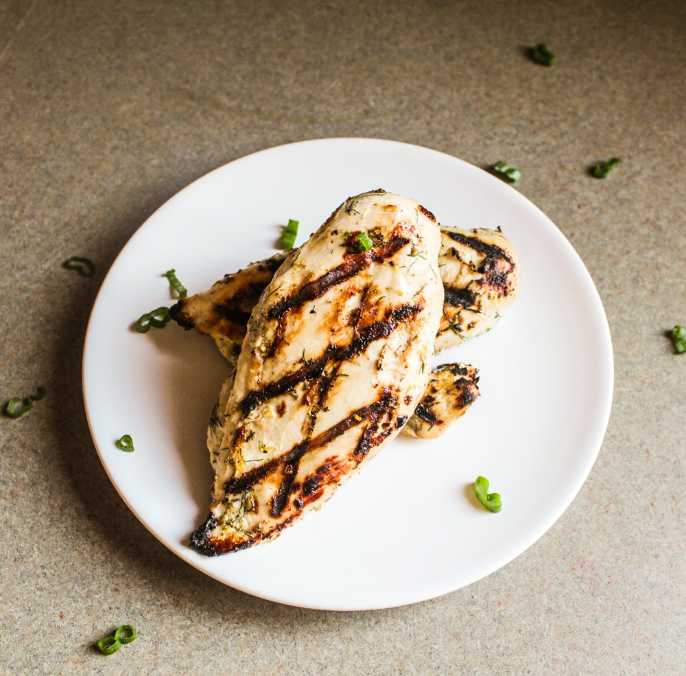Buttermilk and Dill Marinated Chicken