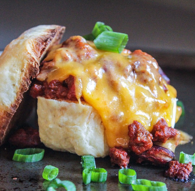 Chili – Cheese Sliders