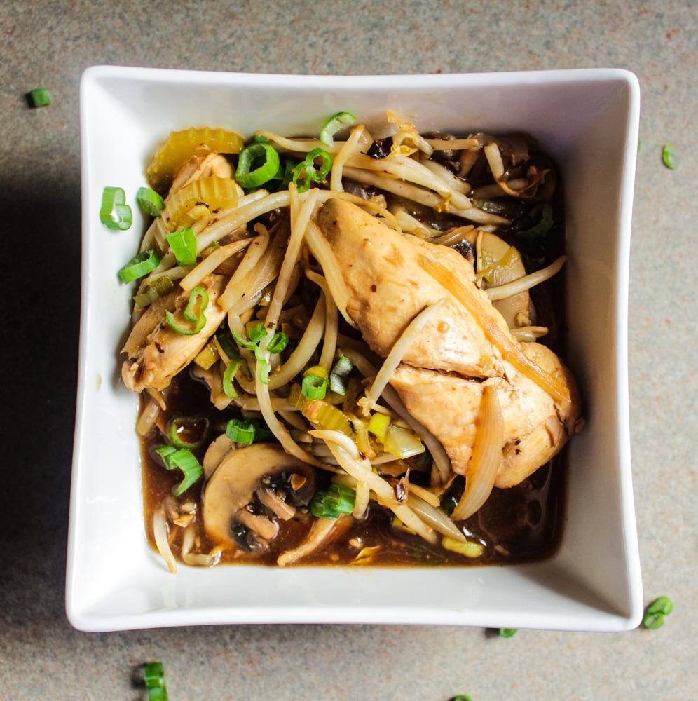 Black Bean Chicken Stir Fry I LisaGCooks.com