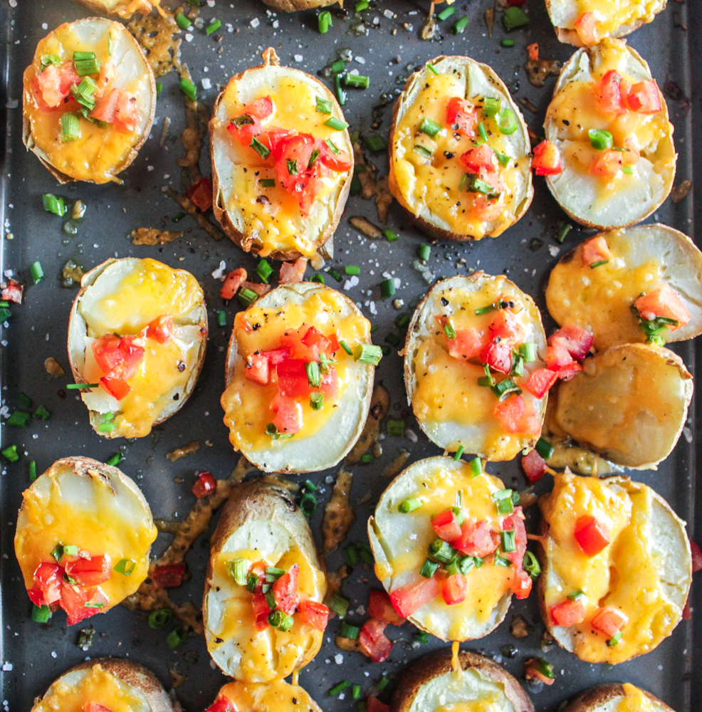 lazy man potato skins
