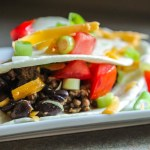 Beef and Bean Soft Tacos