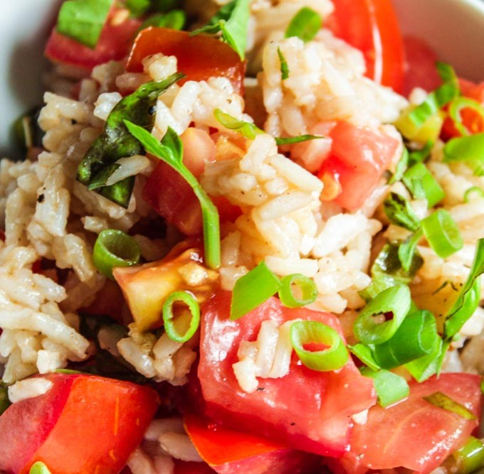 Italian Rice Salad with Tomatoes