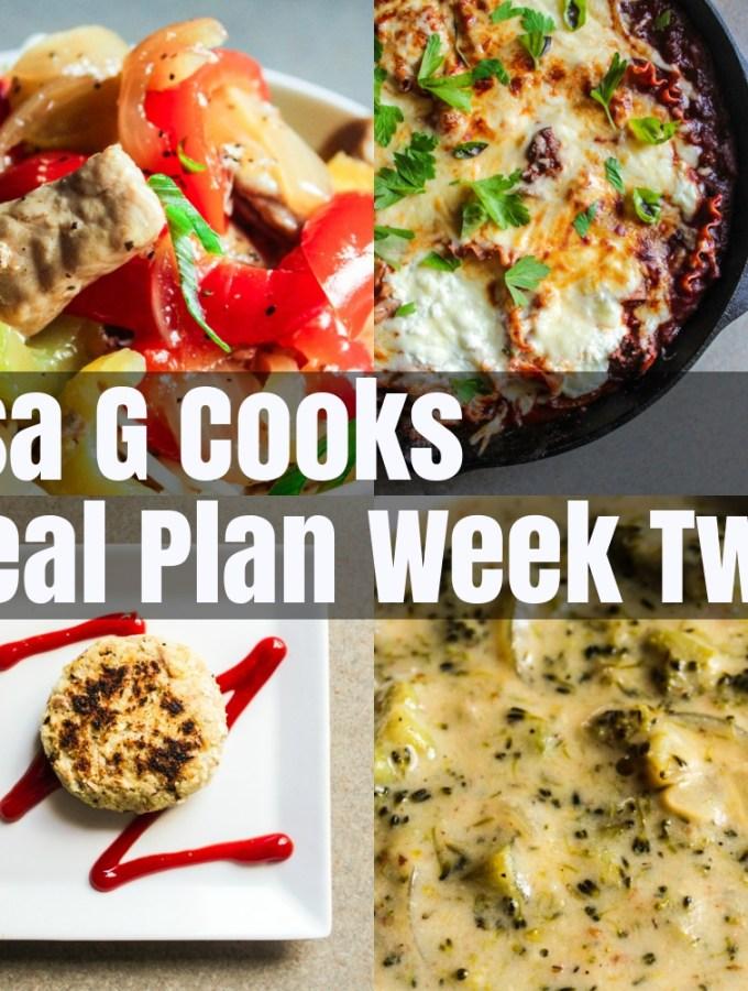 Meal Plan Week Two