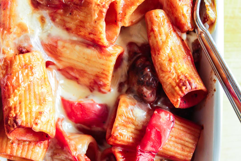 Sausage and Pepper Pasta alforno
