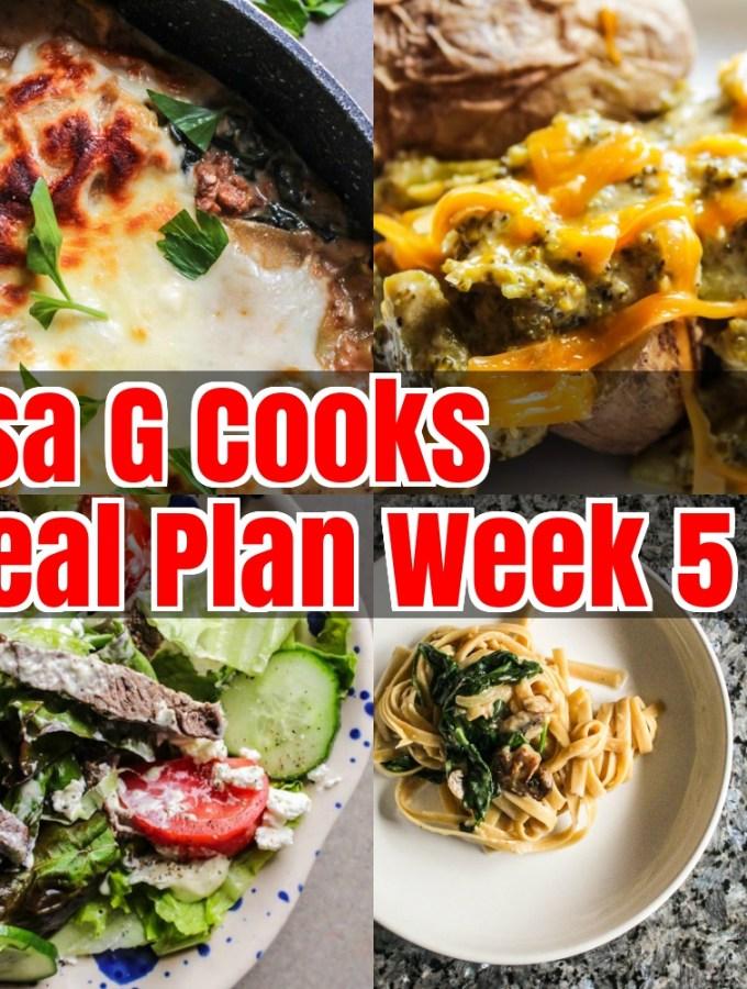 Meal Plan Week 5