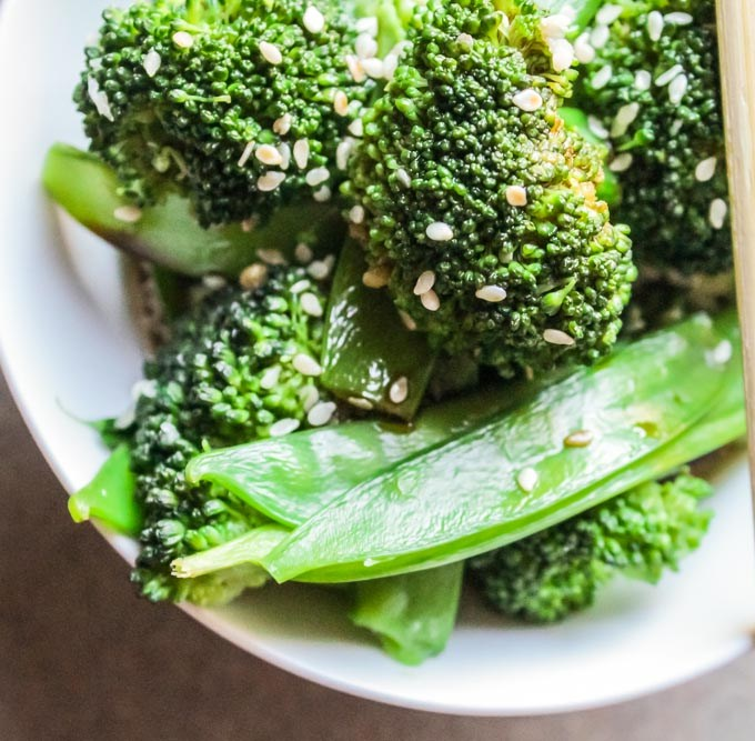 Asian Broccoli and Snow Pea Salad