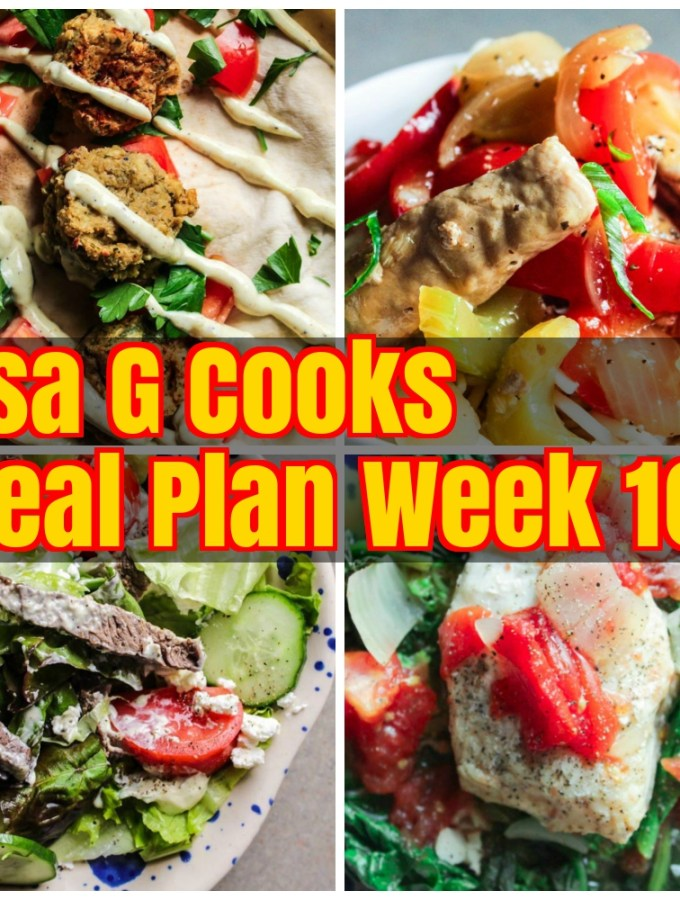 Meal Plan Week 10