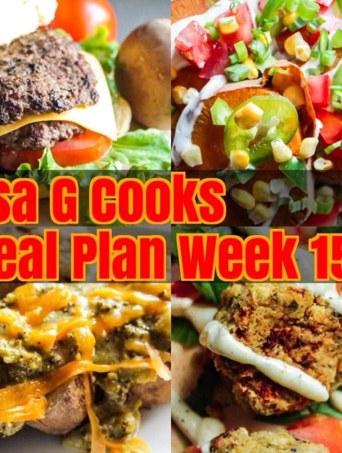 Meal Plan Week 15