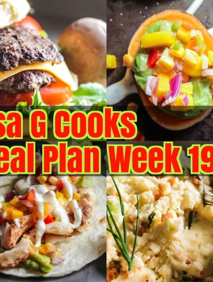 Meal Plan Week 19