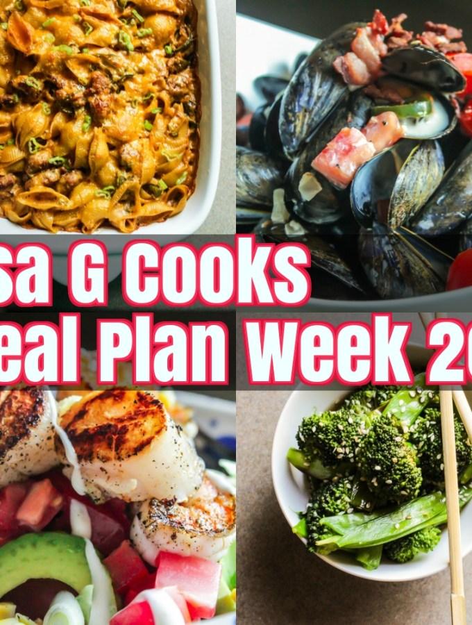 Meal Plan Week 20