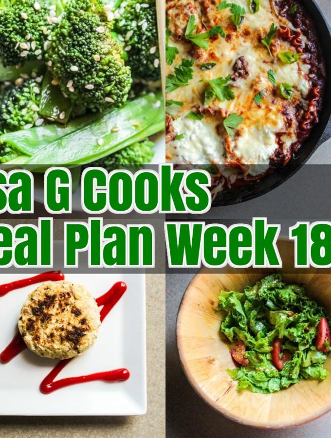 Meal Plan Week 18