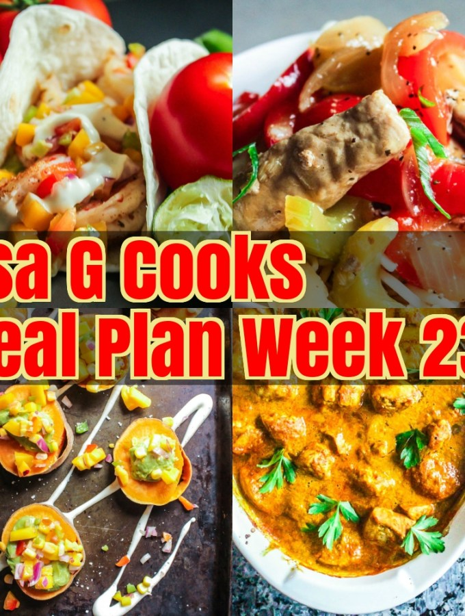 Meal Plan Week 23