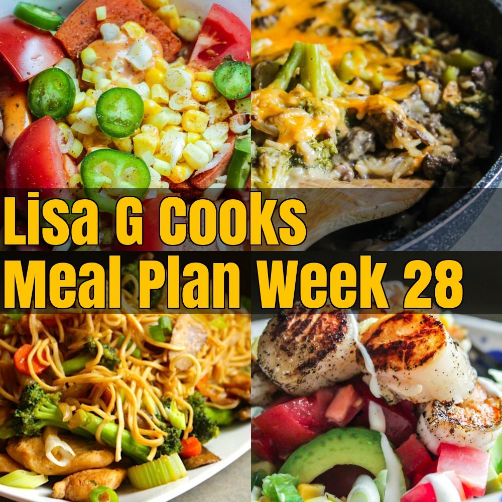 meal plan - LisaGCooks.com