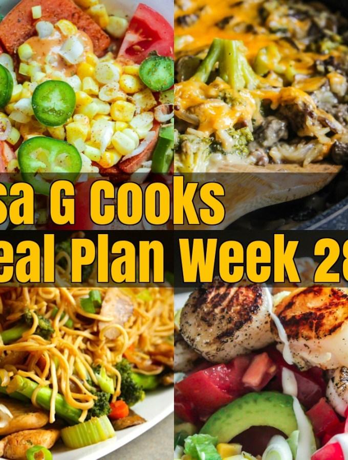 Meal Plan Week 28