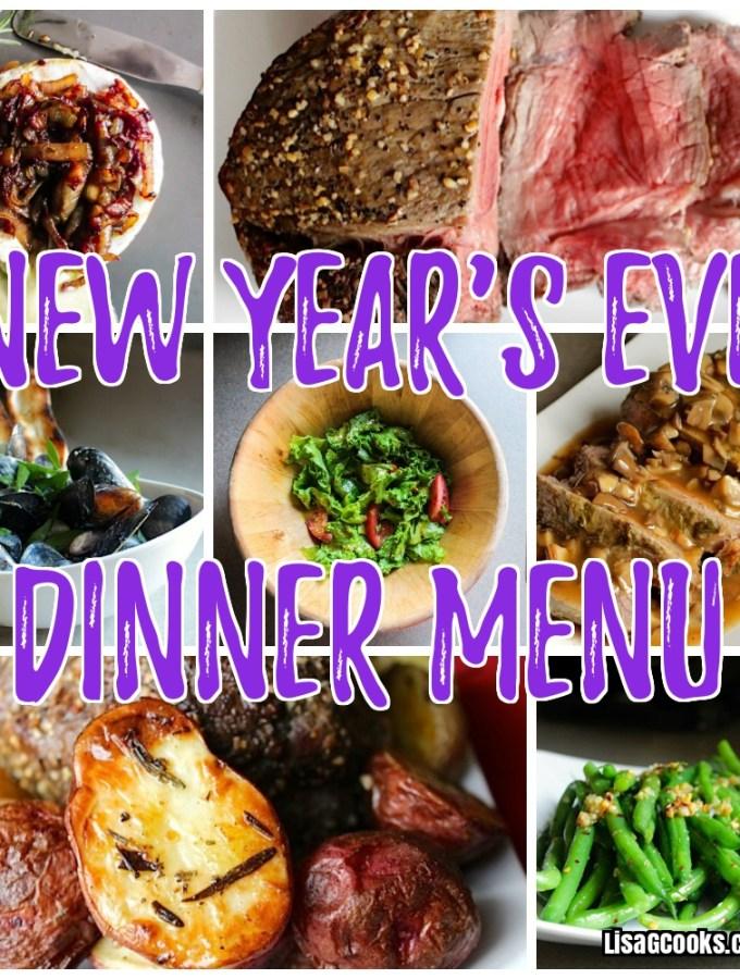 New Year's  Eve Dinner Menu 2018
