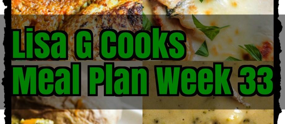 Meal Plan Week 33