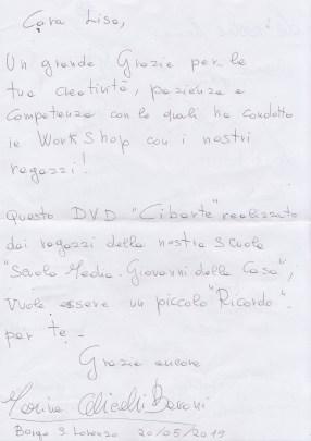 Lettera prof