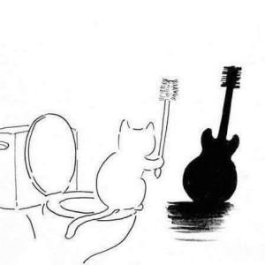 I love this. I laughed.  I don't know if my bass would be amused.