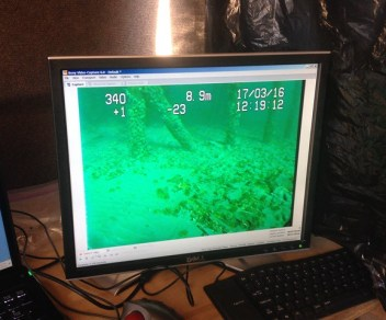 seabed camera under discovery pier